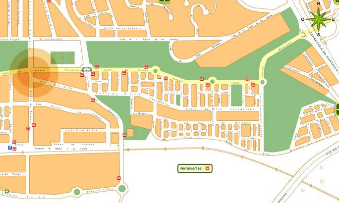 Campeonato de padel route66 mapa - Plano de aravaca ...